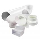 Plastové kruhové  ventilační potrubí a tvarovky